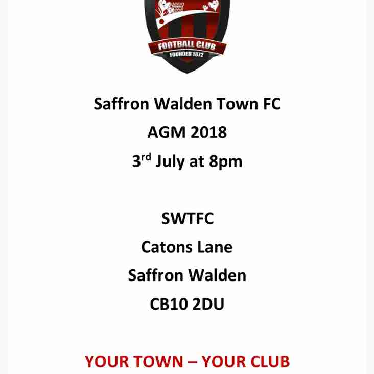 SWTFC AGM 3RD JULY