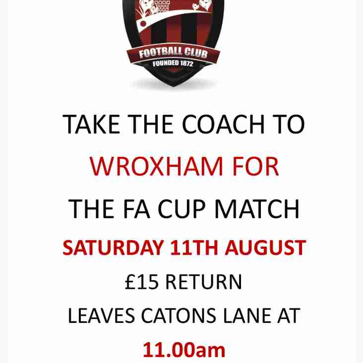 FA Cup Coach To Wroxham