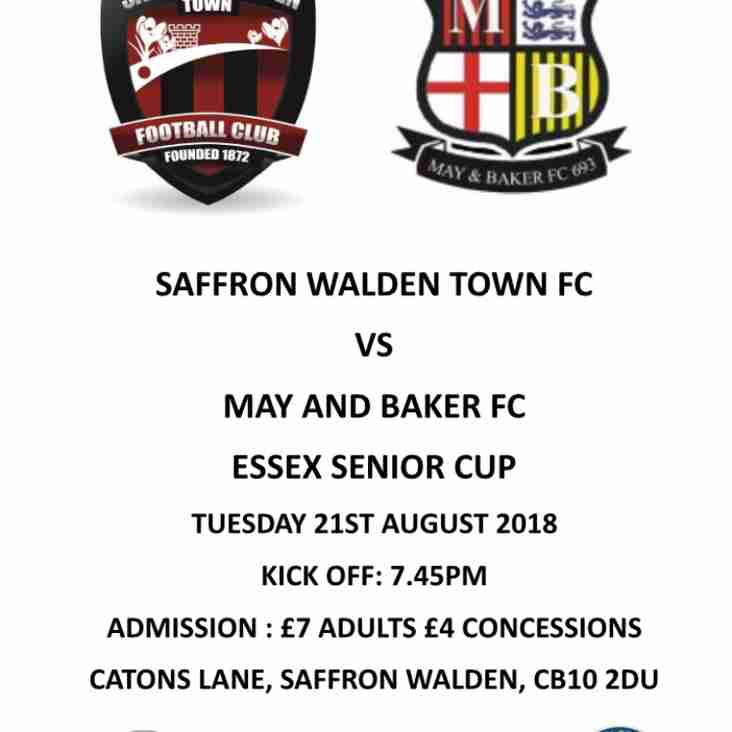 May & Baker in Essex Senior Cup 21st August