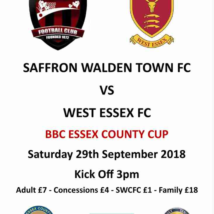 SWTFC vs West Essex FC - Sat 29th Sept