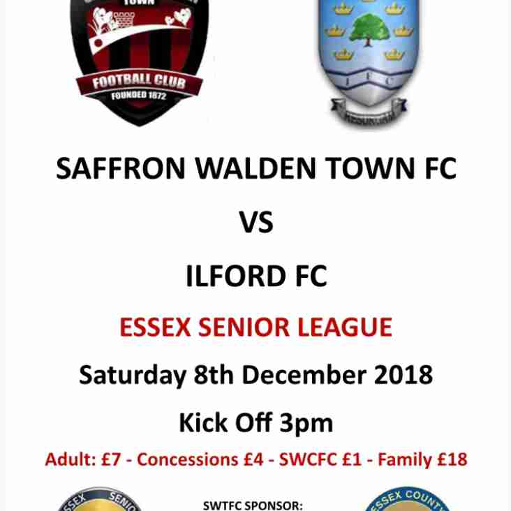 SWTFC vs Ilford FC 8th DEC