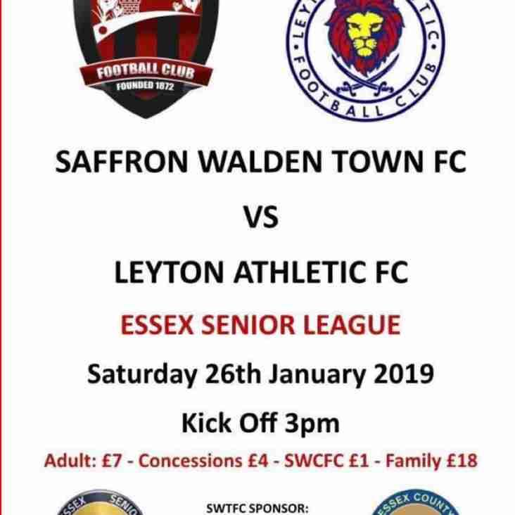 SWTFC vs Leyton Athletic  26/1/19