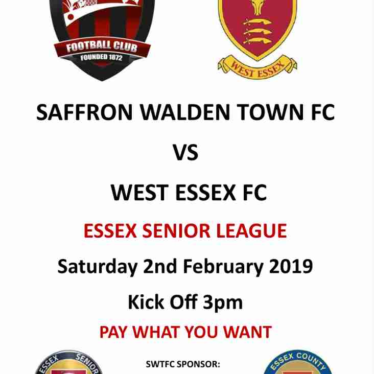 SWTFC vs West Essex 2nd February