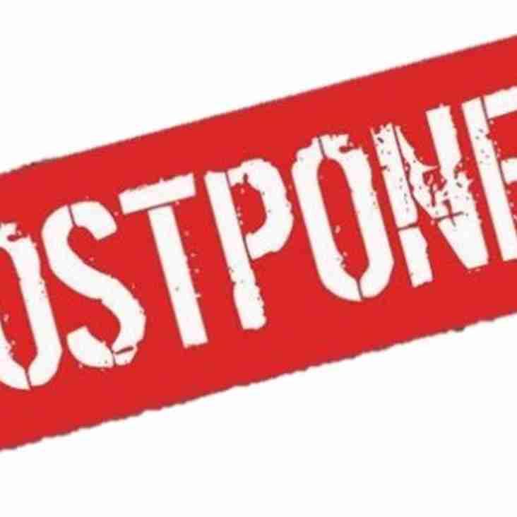 Reserve match postponed
