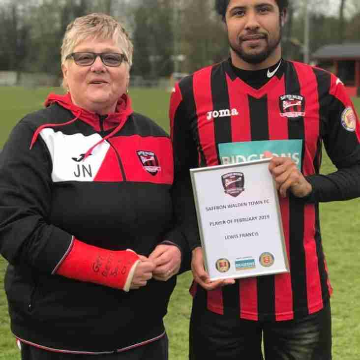 Lewis Francis wins Player of the month