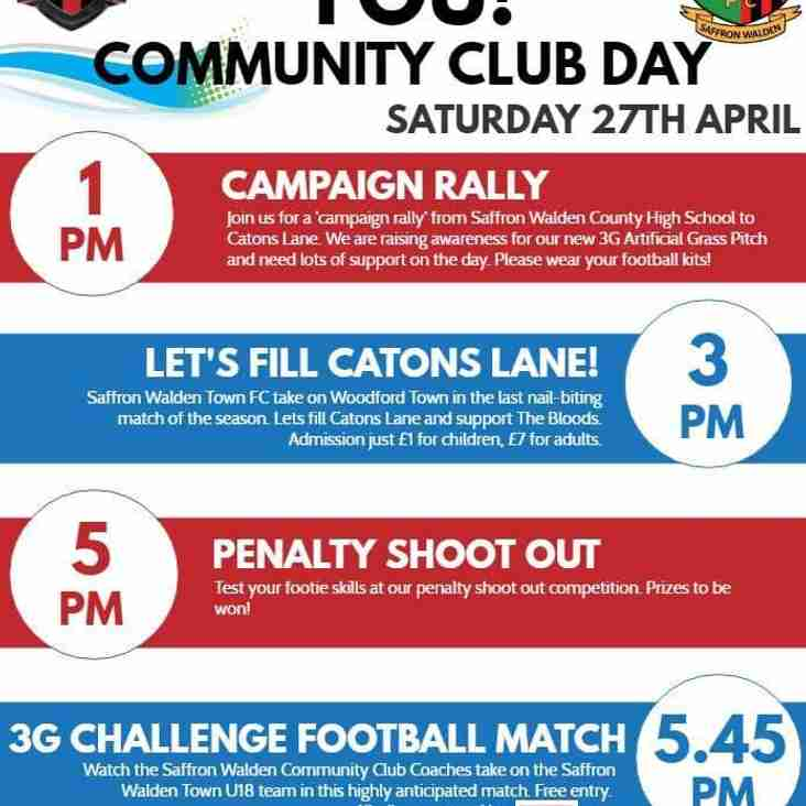 Community Club Day - 27th April