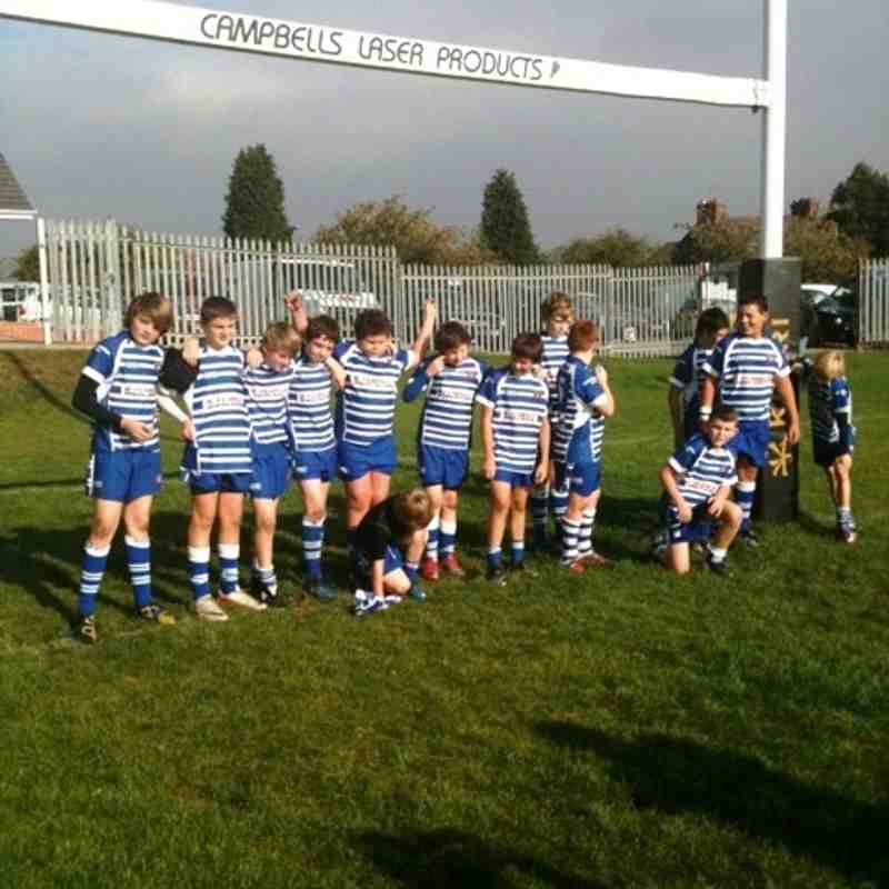 U12'S Away v Cottingham Tigers Yorkshire Cup 16/10/2011