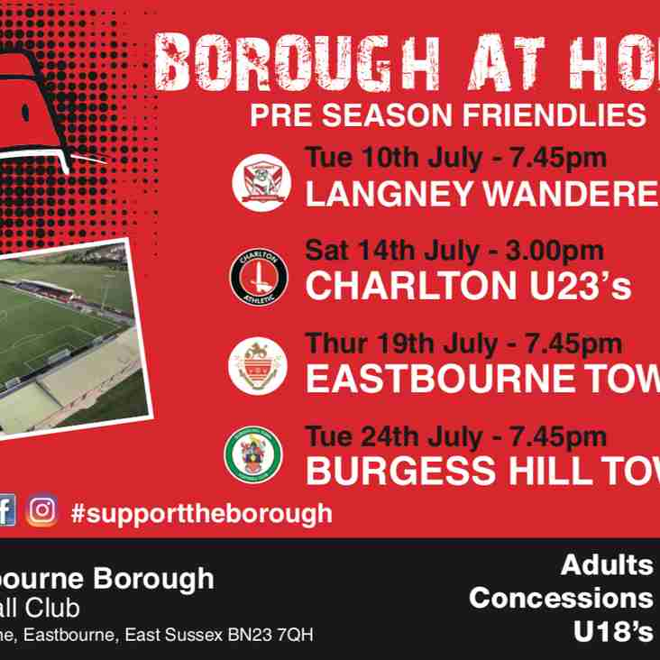 Pre-Season Friendlies and Season Tickets Available For Collection