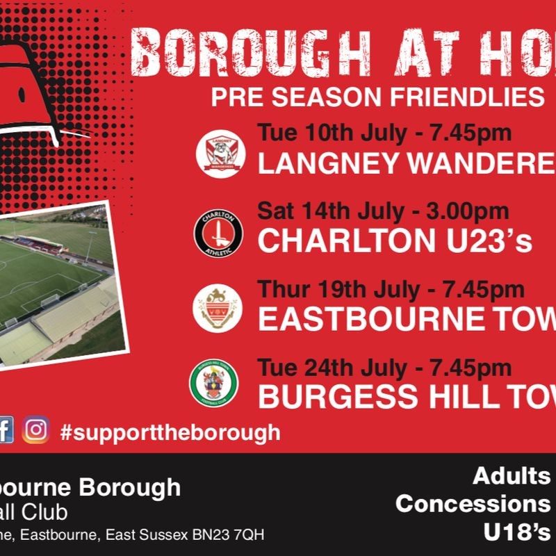 Pre-Season Friendlies and Entrance Prices confirmed