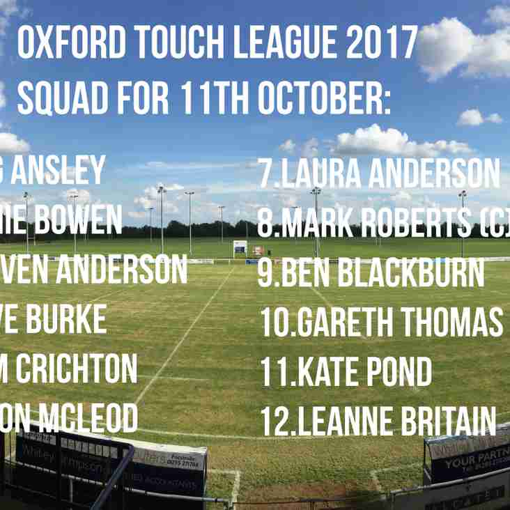 Banbury Touch Rugby makes league debut!