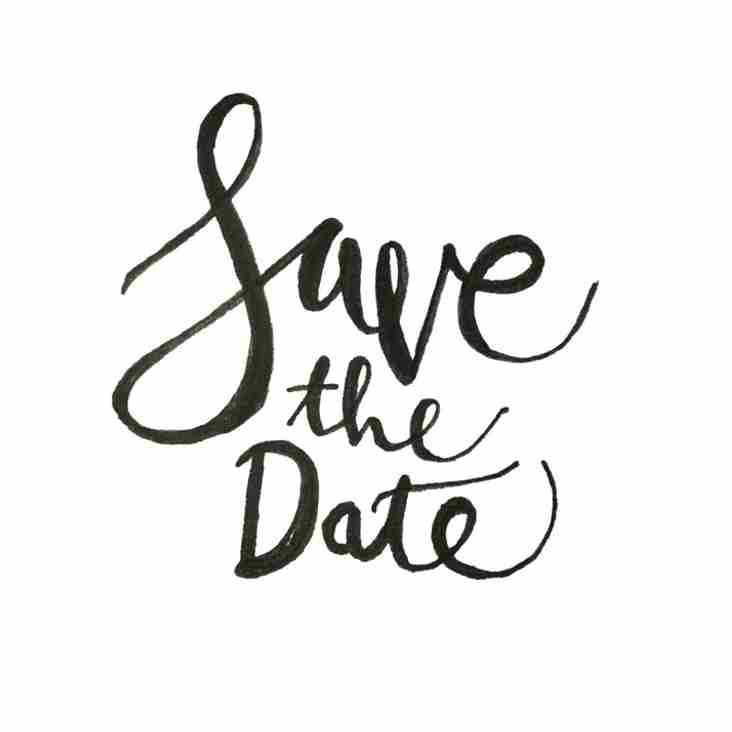 Saturday 28th April 2018 - Save the Date!