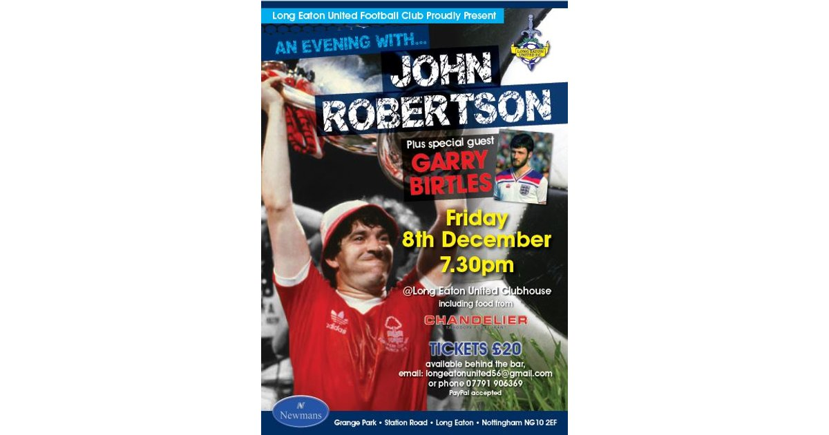 Evening with john robertson long eaton united fc aloadofball Image collections