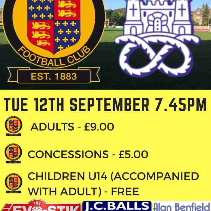 Belper Town vs Newcastle Town FC - Tuesday 12th september