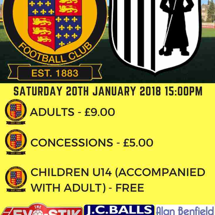 Belper Town vs Corby Town - 20th January
