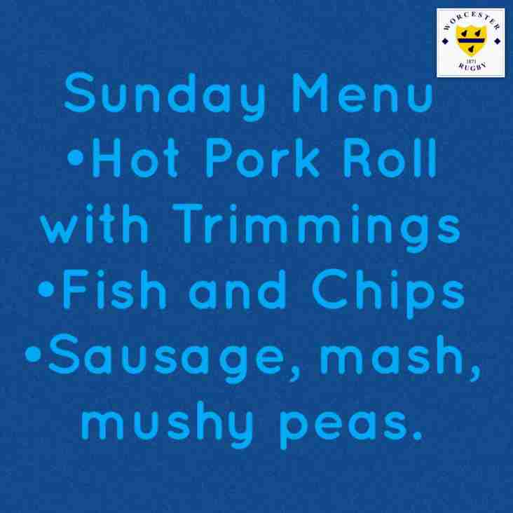 Special Menu for this Sunday