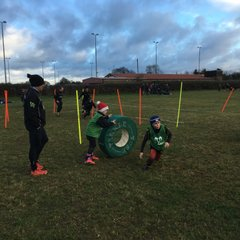 U10s obstacle course warm up