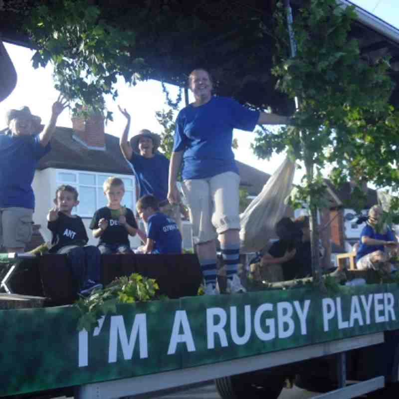 Melksham Carnival 2011  -I'm a Rugby Player Get Me Out of Here!