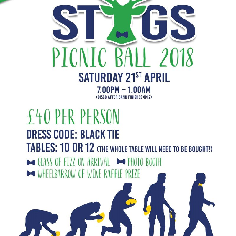 Last few tables for Stags Picnic Ball - Don't miss out!
