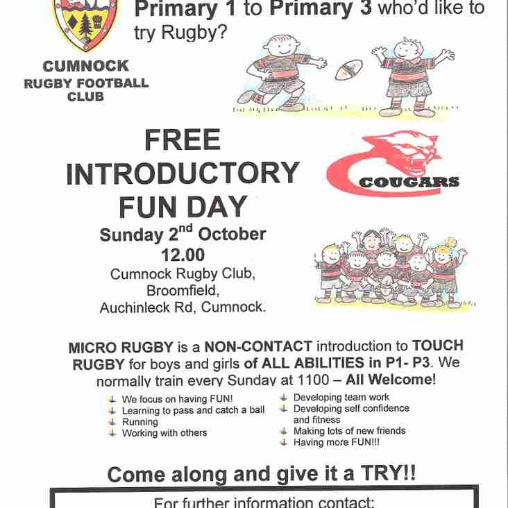 Micro Rugby Fun Day
