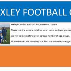 Yaxley Ladies are recruiting