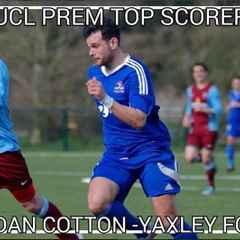 Dan Cotton is UCL Top scorer