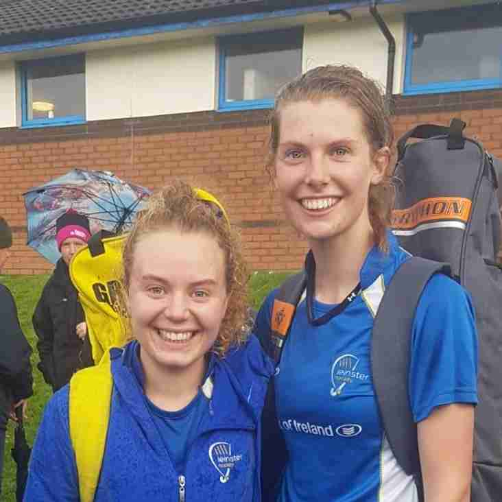 Lynne & Sophie proudly represent Leinster