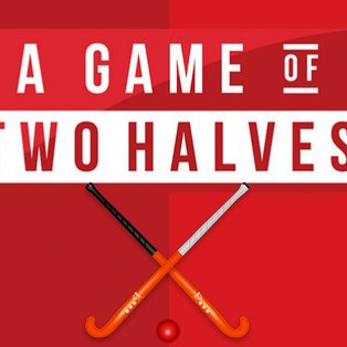 A game of two halves.....