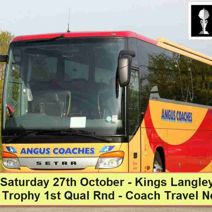 Coach travel to Kings Langley on Saturday 27th October – Seats now available