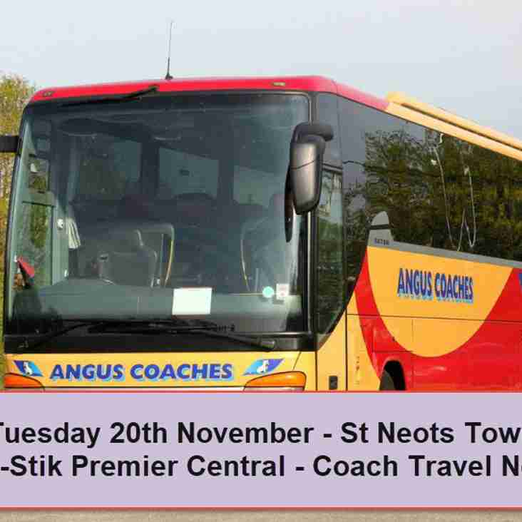 Coach travel to St Neots Town on Tuesday 20th November – Seats now available