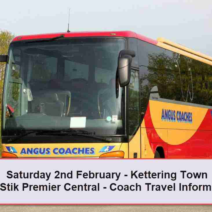 Coach travel to Kettering Town on Saturday 2nd February – Seats available