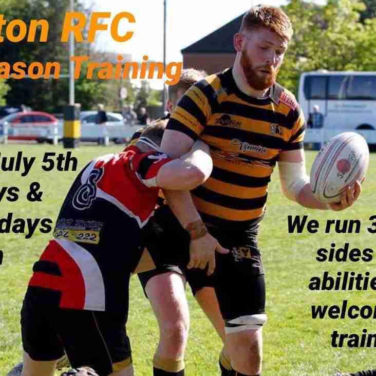 Pre season training!