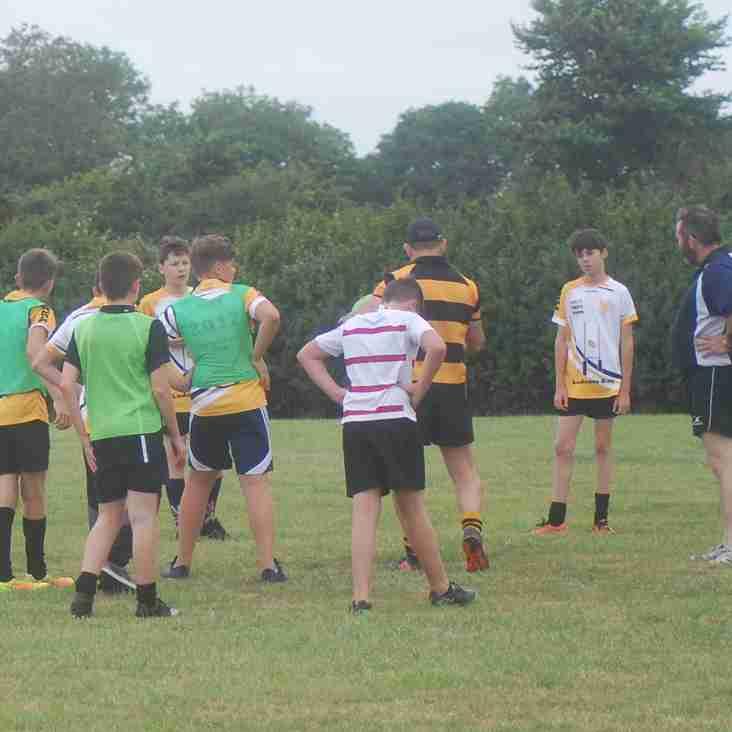 Under 14 Pre-season training