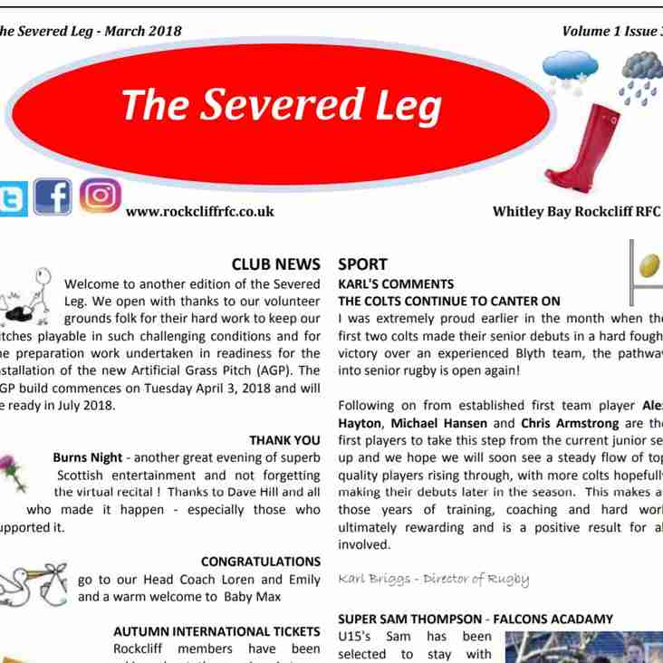 The latest edition of the Severed Leg is ready