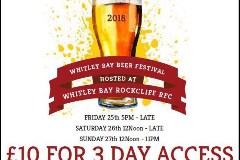 Whitley Bay Beer Festival at  Rockcliff.  25th-27th May 2018