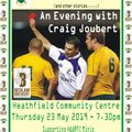 Save The Date - Crossing The Line - An Evening With Craig Joubert