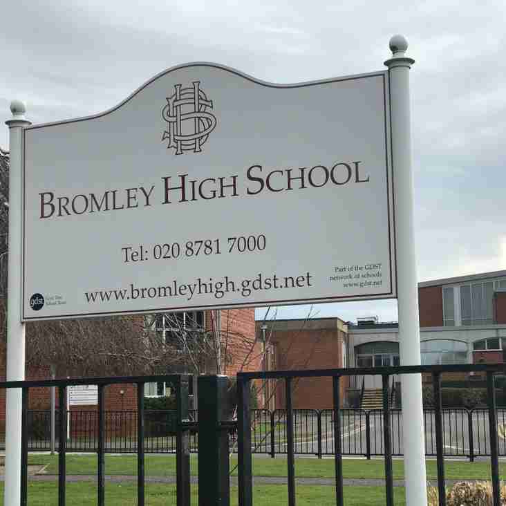 On-site etiquette at Bromley High