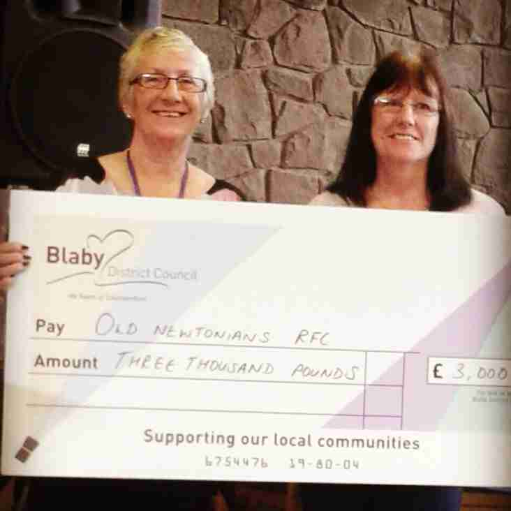 Old Newts Secure Funding from Blaby DC