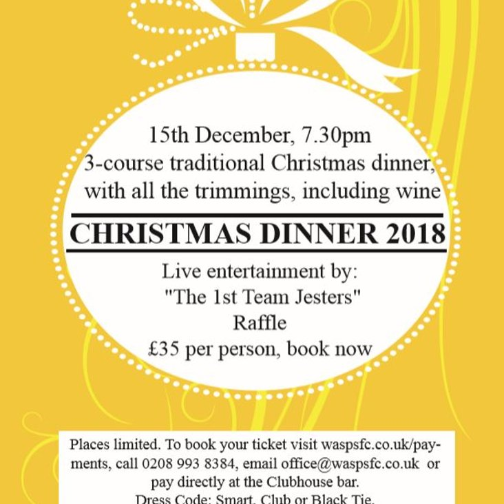 Wasps FC Christmas Dinner 2018<