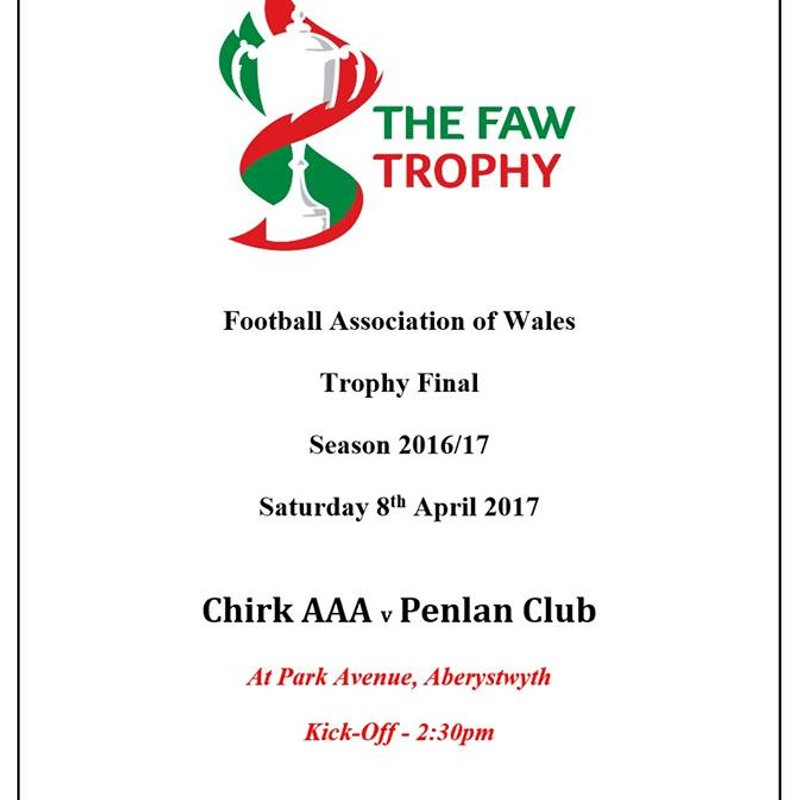 FAW TROPHY FINAL VENUE ANNOUNCED