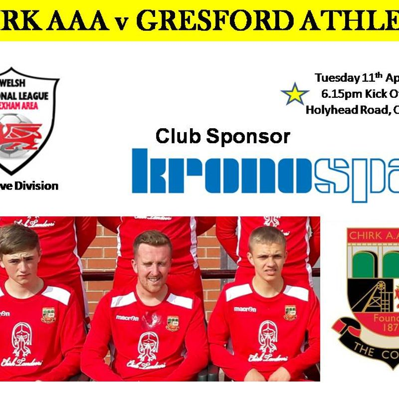 CHIRK AAA RES v GRESFORD ATHLETIC RES