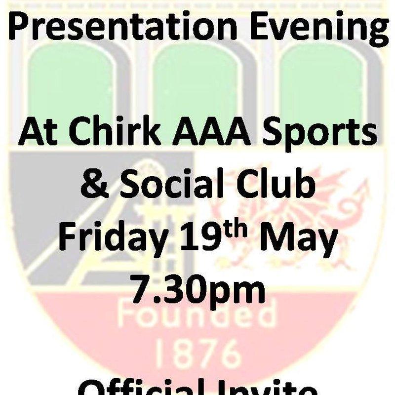 Chirk AAA Presentation Night