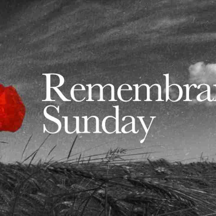 Remembrance Sunday 11th November 2018