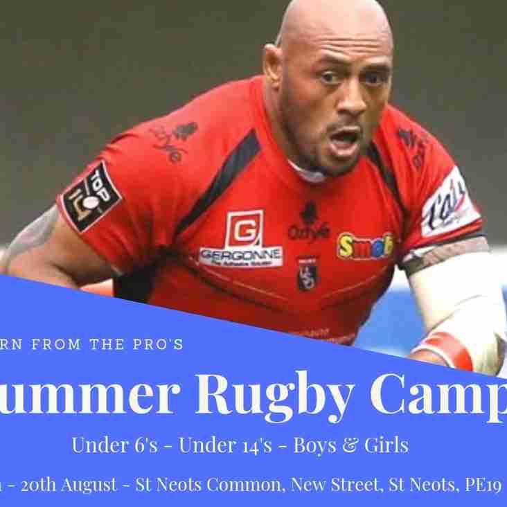 Tonga'uiha Rugby Camp 19th - 20th August