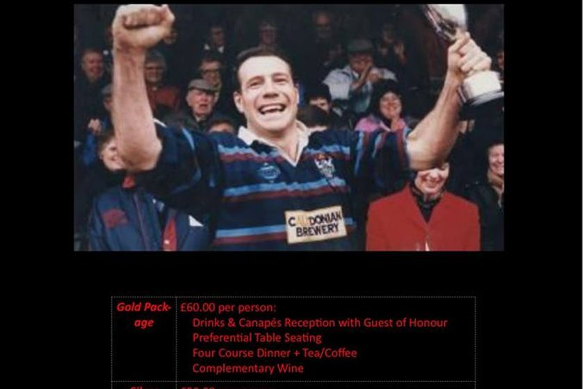 Only 15 days to go until the 2018 Sportsman Dinner at Oswestry Rugby Club.