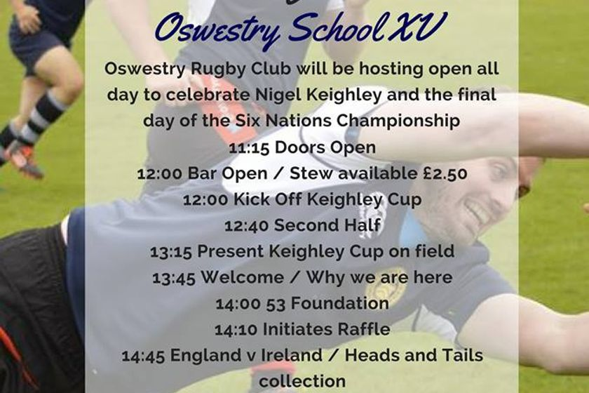 The 2018 Keighley Cup itinerary, this Saturday the 17th March.