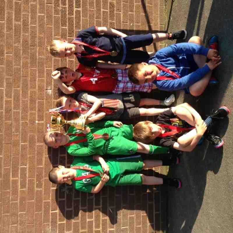 U8 blacks with there best sportsman cup from Pontins tournament