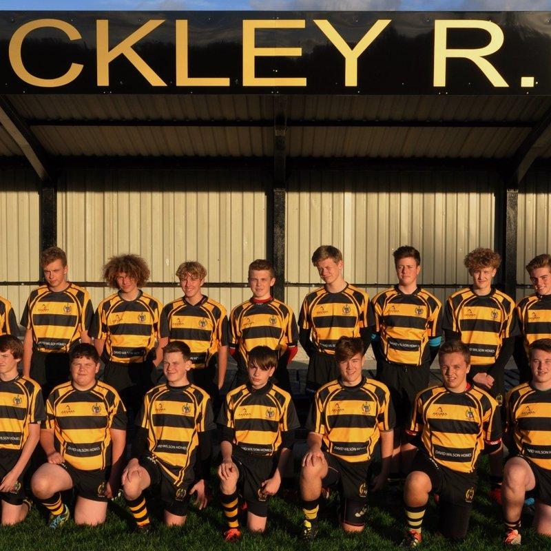 Hinckley RFC U16's slip to narrow defeat in Coventry Mud