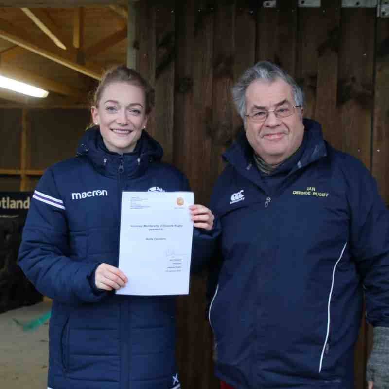 Hollie Davidson visits Deeside Rugby - 13 January 2018