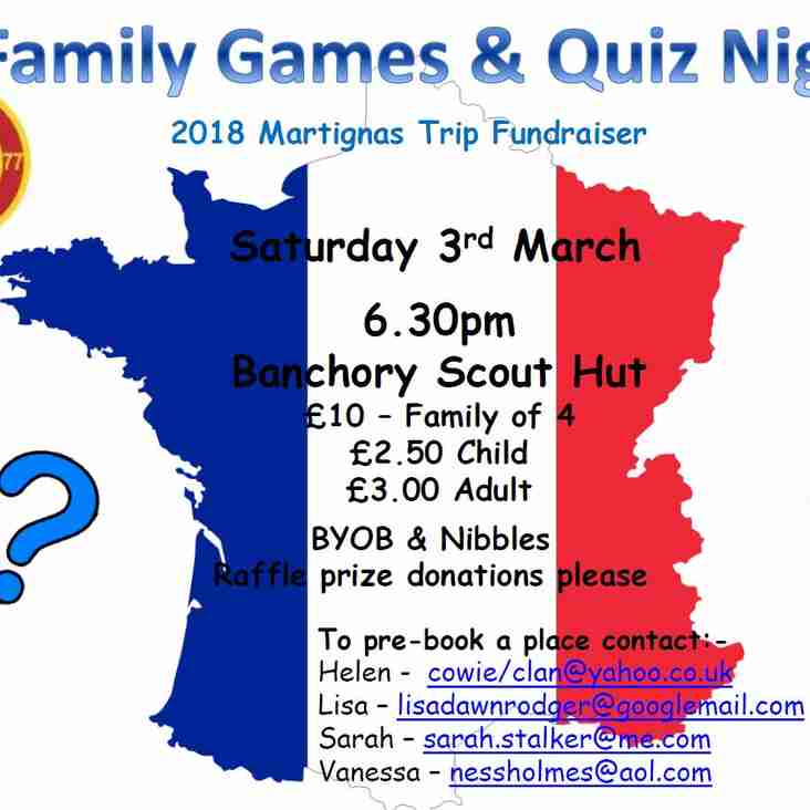 Family Games & Quiz Night - book your place now