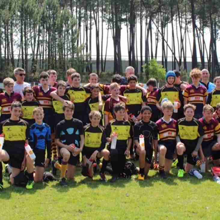 Deeside Rugby U14s and U15s visit Martignas